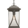 This item: Abbott Antique Bronze One-Light Outdoor Hanging Lantern With Transparent Seeded Glass