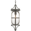 This item: Morrison Antique Bronze One-Light Outdoor Hanging Lantern With Transparent Glass