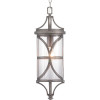 This item: Morrison Antique Pewter One-Light Outdoor Hanging Lantern With Transparent Glass
