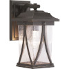 This item: Abbott Antique Bronze 6-Inch One-Light Outdoor Wall Lantern With Transparent Seeded Glass