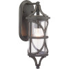 This item: Morrison Antique Bronze 6-Inch One-Light Outdoor Wall Lantern With Transparent Glass