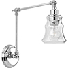 This item: P710044-015: Litchfield Polished Chrome One-Light Wall Sconce