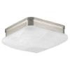 This item: Appeal Brushed Nickel Two-Light Flush Mount with Etched Alabaster Glass Square Diffuser
