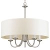 This item: Brushed Nickel Five-Light Chandelier with Off White Linen Fabric Shade