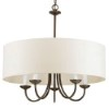 This item: Antique Bronze Five-Light Chandelier with Off White Linen Fabric Shade