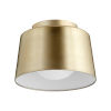 This item: Aged Brass 11-Inch One-Light Trapeze Flush Mount