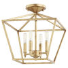 This item: Gabriel Gold Leaf Four-Light Dual Mount Pendant
