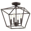 This item: Gabriel Oil Bronze Four-Light Dual Mount Pendant