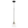 This item: Monarch Noir Aged Brass One-Light Mini Pendant