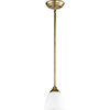 This item: Flora Aged Brass One-Light Mini Pendant