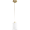 This item: Lancaster Aged Brass One-Light Mini Pendant