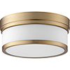 This item: Celeste Aged Brass Two-Light Ceiling Mount