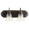 This item: Oil Bronze and Clear Seeded Two-Light Bath Vanity