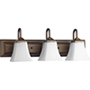 This item: Oiled Bronze and Satin Opal 24-Inch Three-Light Vanity