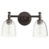 This item: Rossington Oiled Bronze with Clear Two-Light Bath Vanity