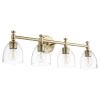 This item: Rossington Aged Brass and Clear Seeded Four-Light Bath Vanity