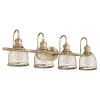 This item: Omni Aged Brass 31-Inch Four-Light Bath Vanity