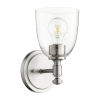 This item: Rossington Satin Nickel with Clear One-Light Wall Mount