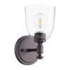 This item: Rossington Oiled Bronze with Clear One-Light Wall Mount