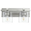 This item: Satin Nickel and Clear Seeded Two-Light Bath Vanity