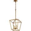 This item: Gabriel Gold Leaf Four-Light Pendant