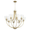 This item: Enclave Aged Brass with Clear 30-Inch Eight-Light Chandelier