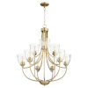 This item: Enclave Aged Brass with Clear 27-Inch Nine-Light Chandelier