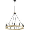 This item: Alpine Black With Driftwood Finish 12-Light Chandelier
