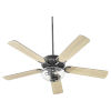 This item: Virtue Matte Black Two-Light 52-Inch Ceiling Fan with Clear Seeded Glass Bowl