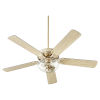 This item: Virtue Aged Brass Two-Light 52-Inch Ceiling Fan with Clear Seeded Glass Bowl