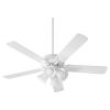 This item: Virtue Studio White Four-Light 52-Inch Ceiling Fan with Satin Opal Glass