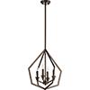 This item: Knox Oiled Bronze Four-Light Pendant