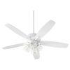 This item: Breeze Studio White Four-Light 52-Inch Ceiling Fan