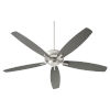 This item: Breeze 60-Inch Satin Nickel Ceiling Fan