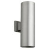 This item: Cylinder Brushed Aluminum Two-Light 6-Inch Outdoor Wall Mount