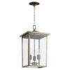 This item: Riverside Weathered Zinc Three-Light Outdoor Pendant