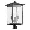 This item: Riverside Noir Three-Light Post Mount