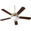 This item: Capri VIII Aged Brass 52-Inch Two-Light Ceiling Fan