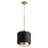 This item: Noir and Aged Brass One-Light 11-Inch Pendant