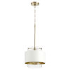 This item: Aged Brass and Studio White One-Light 11-Inch Pendant