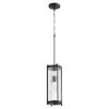 This item: Noir and Clear Chisseled Glass One-Light 16-Inch Mini Pendant