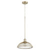 This item: Omni Aged Brass 12-Inch One-Light Pendant
