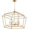 This item: Monument Gold Leaf Six-Light Pendant
