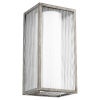 This item: Maestro Weathered Zinc Three-Light LED 12-Inch Outdoor Wall Mount