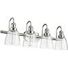 This item: Satin Nickel Four-Light 30.25-Inch Bath Vanity