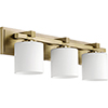 This item: Aged Brass Three-Light 24-Inch Bath Vanity