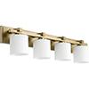 This item: Aged Brass Four-Light 33-Inch Bath Vanity
