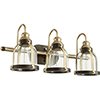 This item: Aged Brass with Oiled Bronze Three-Light 24.5-Inch Bath Vanity