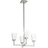 This item: Wright Satin Nickel Four-Light 20.25-Inch Chandelier