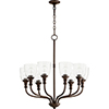 This item: Richmond Oiled Bronze Eight-Light 31-Inch Chandelier with Clear Seeded Glass